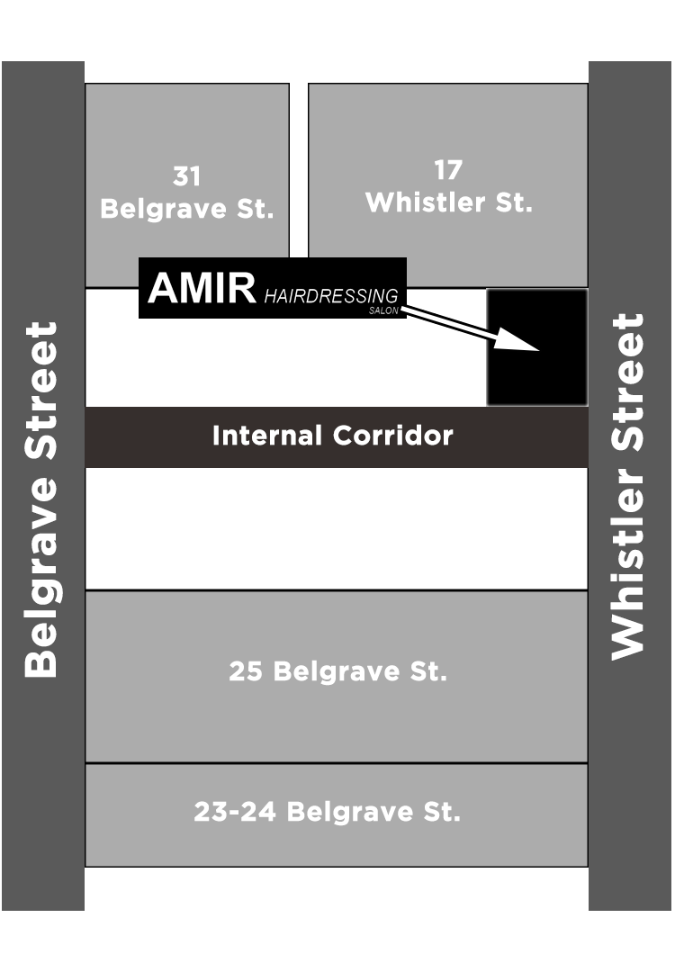 Map to Amir's Hairdressing Salon